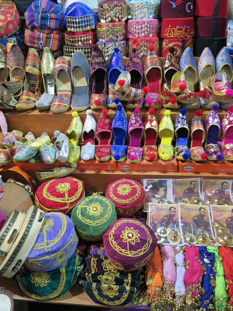 Fez Hats, Taqiyah Scullcaps, Embroidered Slippers Spice