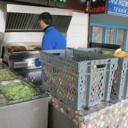 Grilling Fish Osmanli Balikcisi Istanbul Turkey