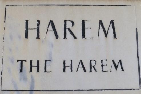 Harem Entrance sign Topkapı Palace Istanbul Turkey