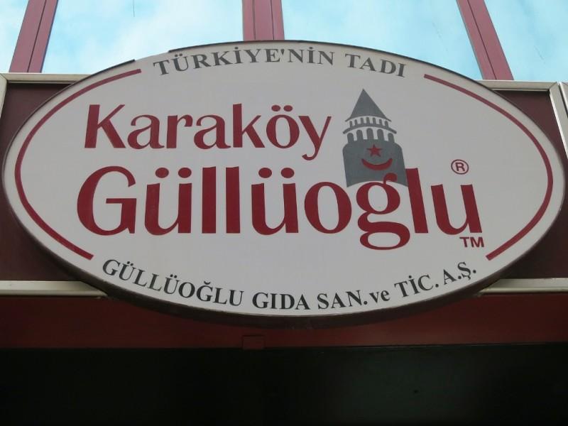 Karaköy Güllüoglu Sign Istanbul Turkey