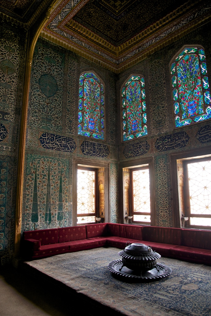 Stained Glass and Tiles Twin Kiosk Harem Topkapı Palace Istanbul Turkey