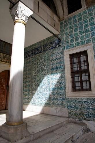 Tiled Walls of Court of the Eunuchs Harem Topkapı Palace Istanbul Turkey