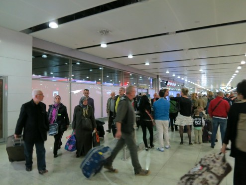 Airport baggage claim Sabiha Gokcen Airport Istanbul Turkey