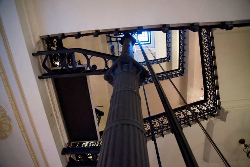 Elevator Shaft and Stairwell Pera Palace Hotel Istanbul Turkey