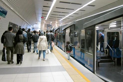 Exit Funicular Istanbul Turkey