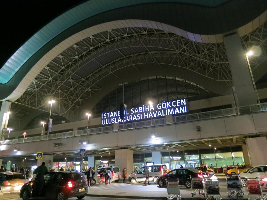 Front Sabiha Gokcen Airport Istanbul Turkey