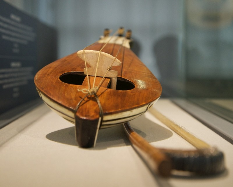 Kemence Instrument and Bow Whirling Dervish Museum Istanbul Turkey