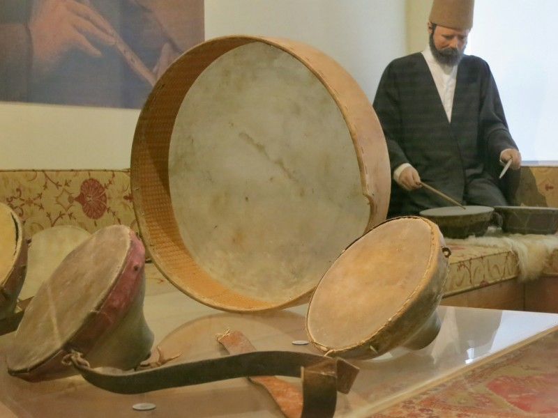 Mevlevi Drums Whirling Dervish Museum Istanbul Turkey