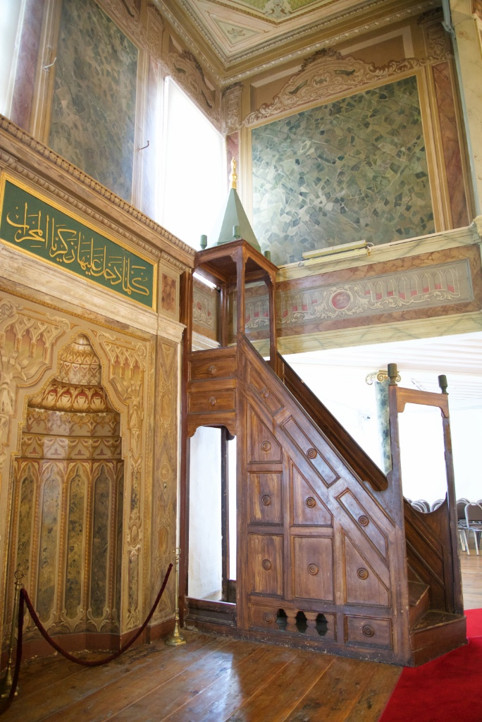 Mihrab and Minbar Semahane Whirling Dervish Museum Istanbul Turkey