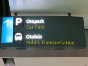 Otobus Sign Sabiha Gokcen Airport Istanbul Turkey