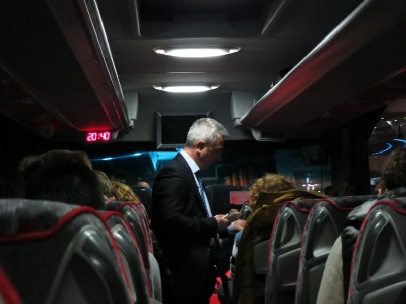 Paying fare on Havataş bus Istanbul Turkey