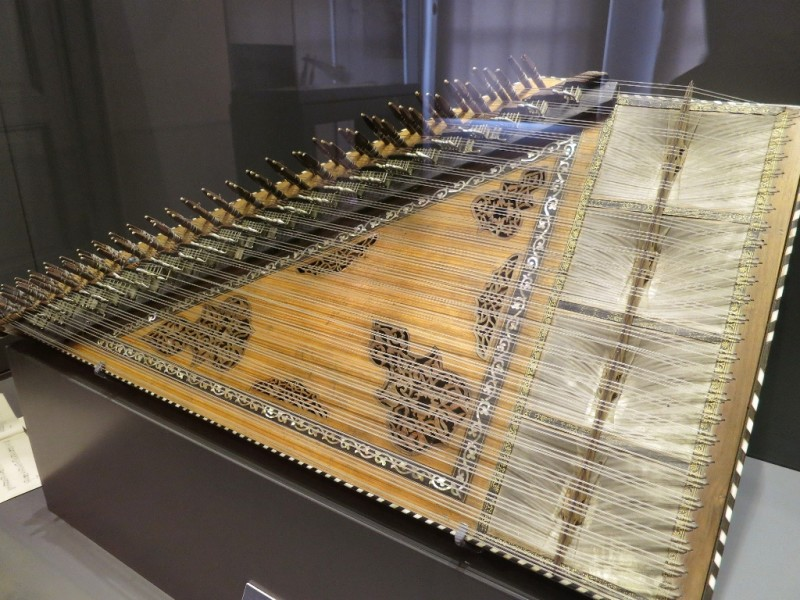 Qanun Box Zither Whirling Dervish Museum Istanbul Turkey