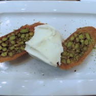 Shredded Wheat Dessert with Pistachio Mado Istanbul Turkey
