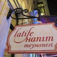 Sign Latife Hanım Meyhanesi Istanbul Turkey