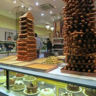 Towers of Pistachio Desserts Mado Istanbul Turkey