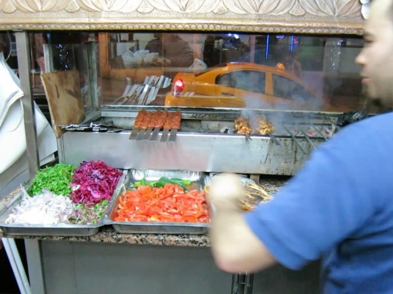 Vegetables Durumzade Istanbul Turkey
