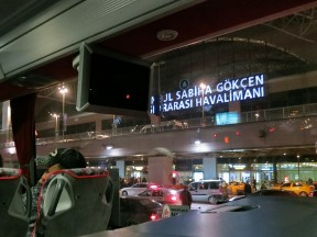 View from bus Havataş Sabiha Gokcen Airport Istanbul Turkey