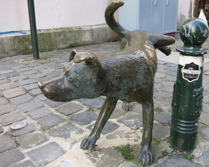 Statue Belgian peeing