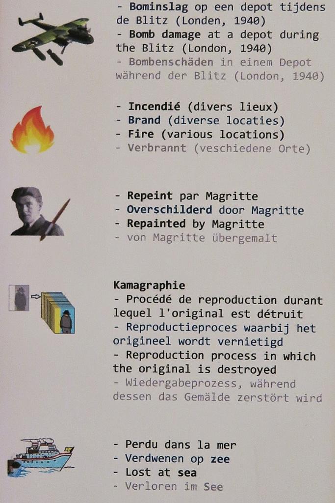 Lost Magrittes Legend Rene Magritte Museum Jette Brussels Belgium