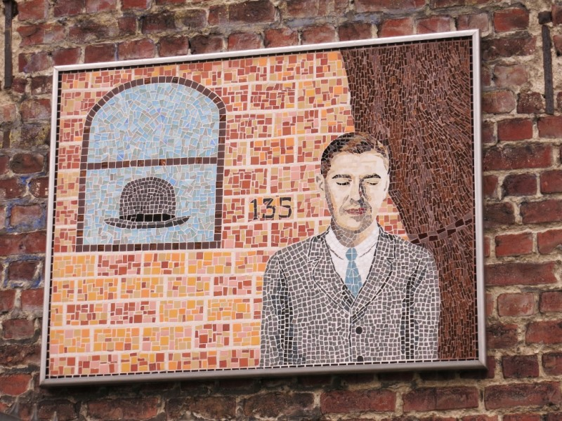 Mosaic Rene Magritte Museum Jette Brussels Belgium