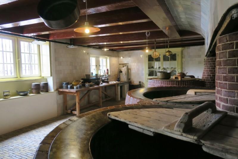 Kitchen in Cellar Hermitage Amsterdam