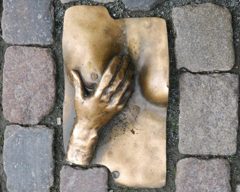 Bronze Relief Oude Kerk Amsterdam