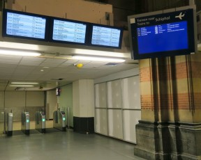 Departure Information Monitors Central Station Amsterdam