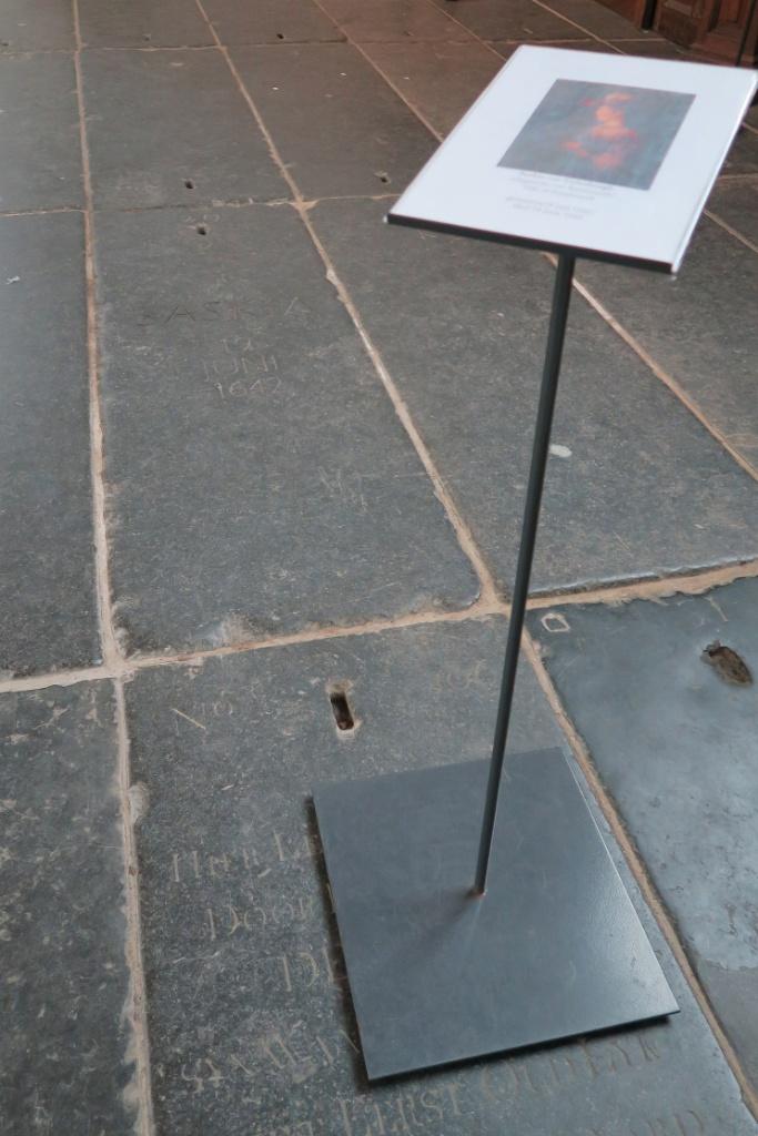 Grave Marker with Sign Saskia van Uylenburgh Oude Kerk Amsterdam