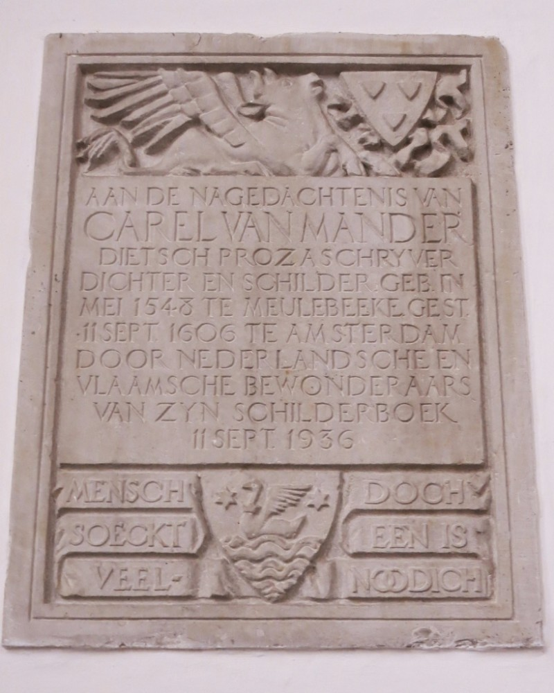 Memorial Plaque for Carel van Mander Oude Kerk Amsterdam