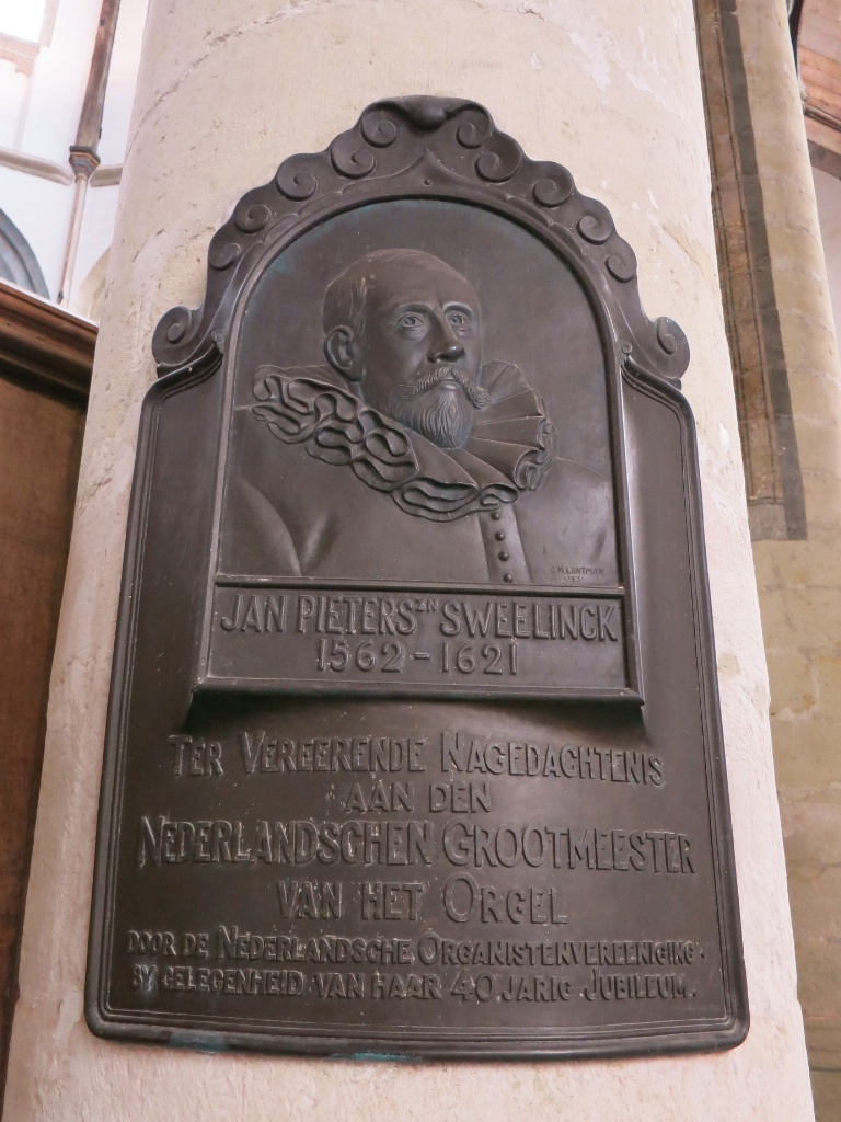 Memorial Plaque for Jan Pieterszoon Sweelinck Oude Kerk Amsterdam