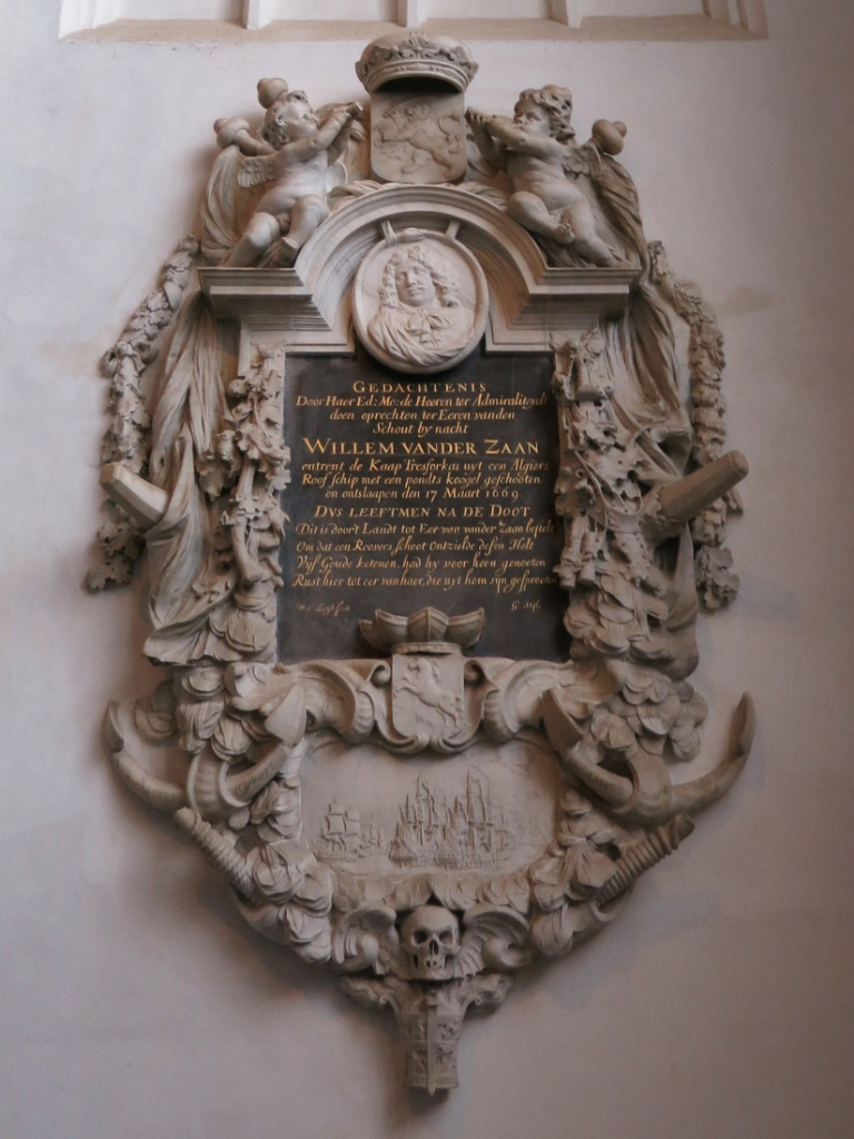Memorial Plaque for Willem Vander Zaan Oude Kerk Amsterdam
