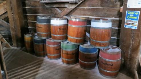 Paintmill De Kat Pigment Barrels Zaanse Schans Holland