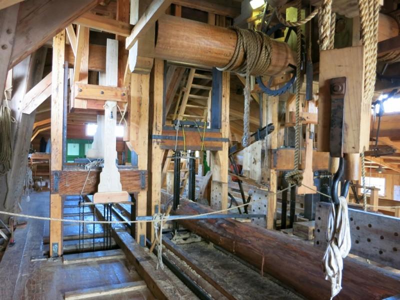 Sawmill Het Jonge Schaap Interior Zaanse Schans Holland