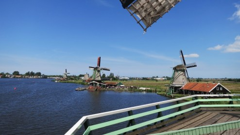 View from Windmill De Kat Zaanse Schans Holland