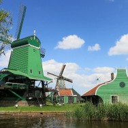 View of Zaanse Schans Holland