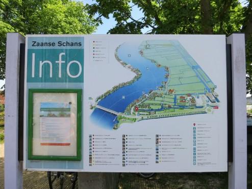 Village Map Zaanse Schans Holland