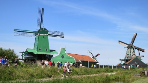 Windmills Zaanse Schans Holland