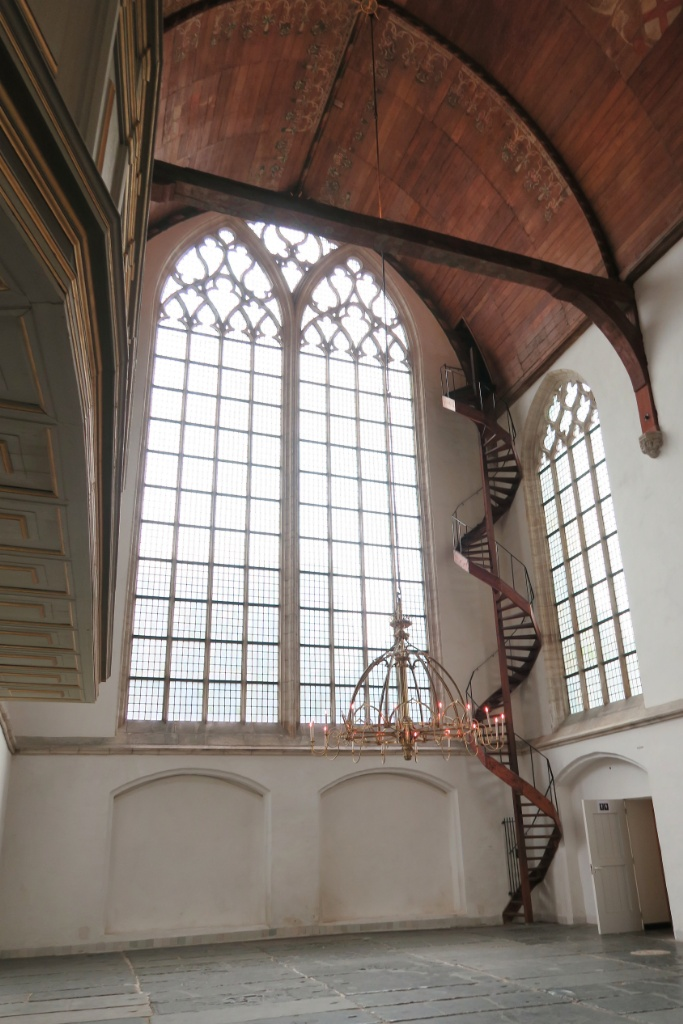 Wooden Stairs and Ceiling of Side Chapel Oude Kerk Amsterdam