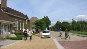 Yellow Brick Sidewalk to Zaanse Schans Holland