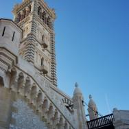 Drawbridge and Facade Notre Dame de la Garde Marseille France