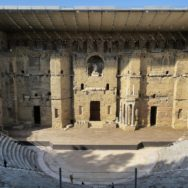 Stage Wall Panorama Roman Theatre Orange France