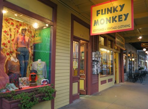 Funky monkey clothing store
