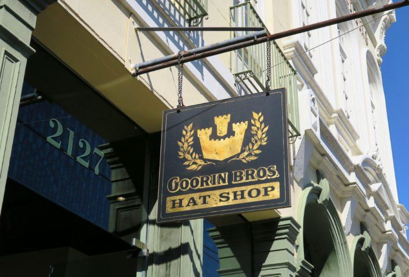 Goorin Bros Hat Shop Sign Magazine Street New Orleans