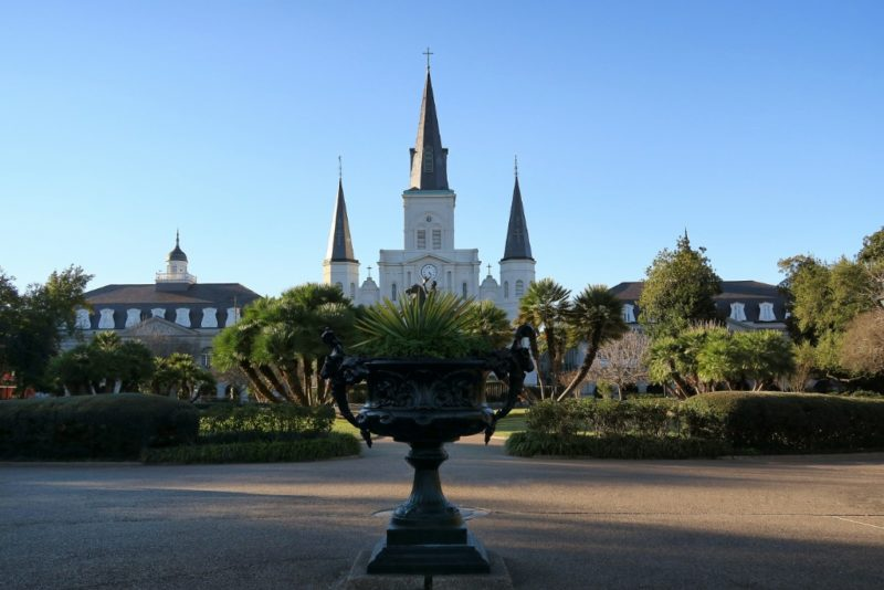 Jackson Square and St Louis Cathedral New Orleans