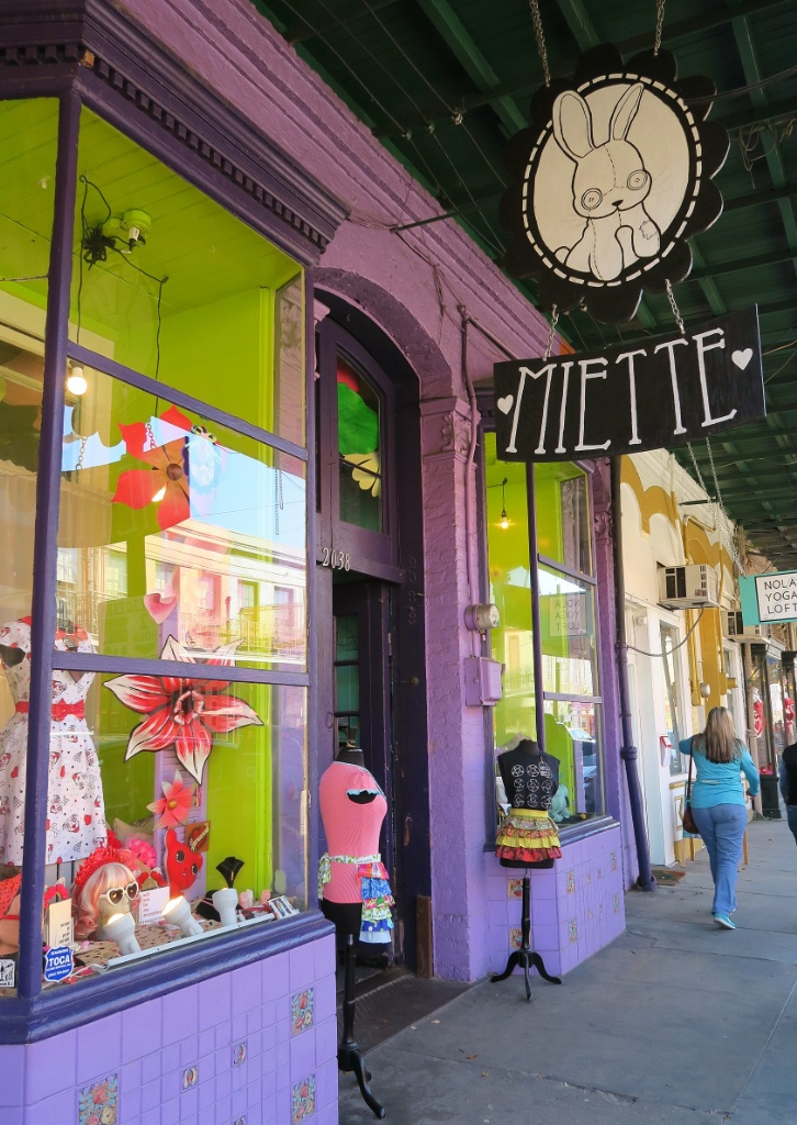 Miette Boutique Sign Magazine Street New Orleans