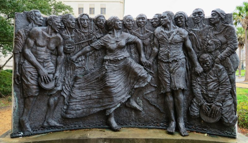 Sculptural Relief Congo Square Louis Armstrong Park New Orleans