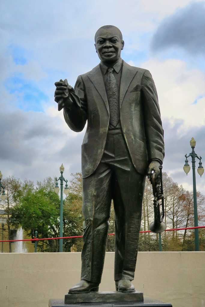 Statue of Louis Armstrong Armstrong Park New Orleans