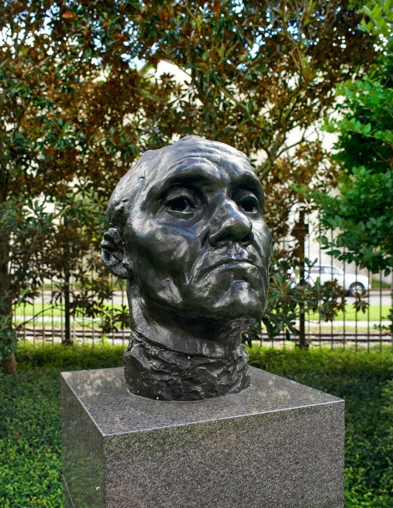 ... Monumental Head of Jean Daire by Rodin NOMA sculpture garden New Orleans ...