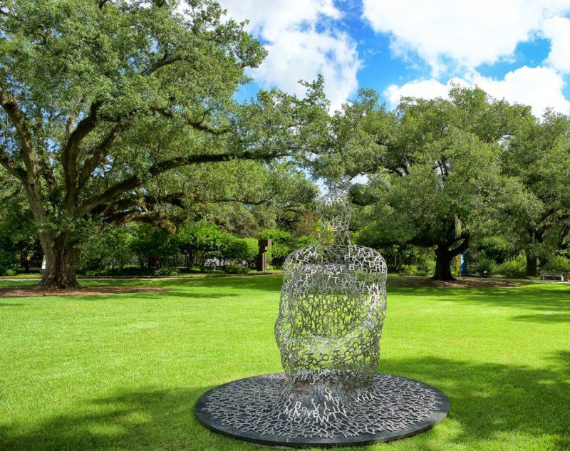 ... Overflow XI by Plensa NOMA sculpture garden New Orleans ...