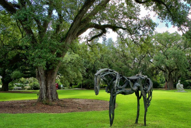 ... Restrained by Deborah Butterfield NOMA sculpture garden New Orleans ...